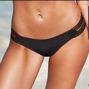 NWT Victoria's Secret Cheeky Black Bikini Bottom